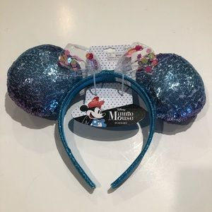Disney Other - Minnie Mouse headband sequins Ombre blue&Purple